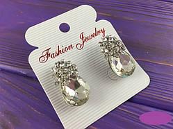 Сережки жіночі з камінням