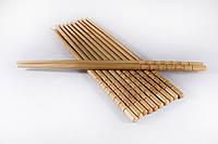 Бамбуковые палочки 24см, россыпь / фигурный конец