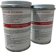 Лак поліуретановий, матовий Weripur® 180 2К,  пак.1 кг. Лак полиуретановый, водный, матовый.