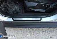 Накладки на внутренние пороги Flexill к Mitsubishi Lancer X 2008+ гг. (4 шт, нерж)