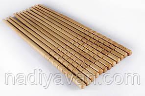Бамбуковые палочки 24см, россыпь / фигурный конец, фото 2