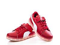 Детская спортивная обувь для девочек со светящейся подошвой и с подзарядкой от фирмы GFB.
