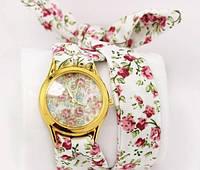 Женские часы с тканевым ремешком, фото 1