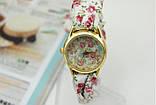 Женские часы с тканевым ремешком, фото 2