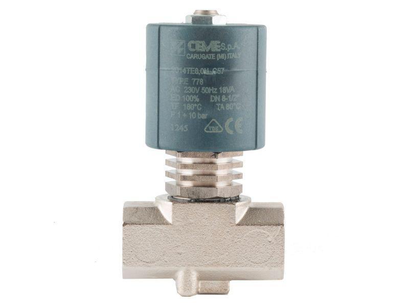 """Клапан 1/2"""", нормально-закрытый, 9014 TEF180C 230V 50 Hz, электромагнитный соленоидный, CEME, Италия"""