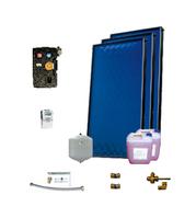 Пакет солнечных коллекторов ENSOL для приготовления горячей воды на 3-5 человек ,3 панели, без бака