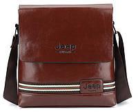Мужская сумка-клатч Jeep. Коричневая
