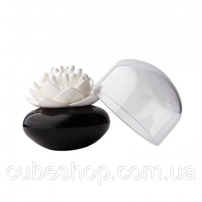Подставка для ватных палочек Lotus Cotton Bud Qualy (черная-белая)