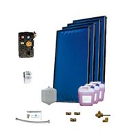 Пакет солнечных коллекторов ENSOL для приготовления горячей воды на 4-6 человек ,4 панели, без бака