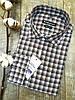 Приталенная рубашка в черно-коричневую клетку 100% хлопок, фото 2