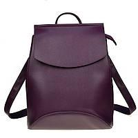 Рюкзак сумка женский  с клапаном (фиолетовый), фото 1