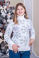 """Теплый женский свитер """"Снежинка"""""""