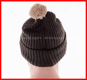 Вязаная шапка с помпоном mb7540