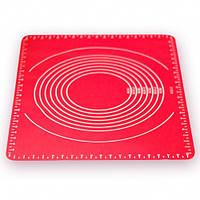 Коврик силиконовый для выпечки раскаточный 64*45*0.01см HH-667, фото 1