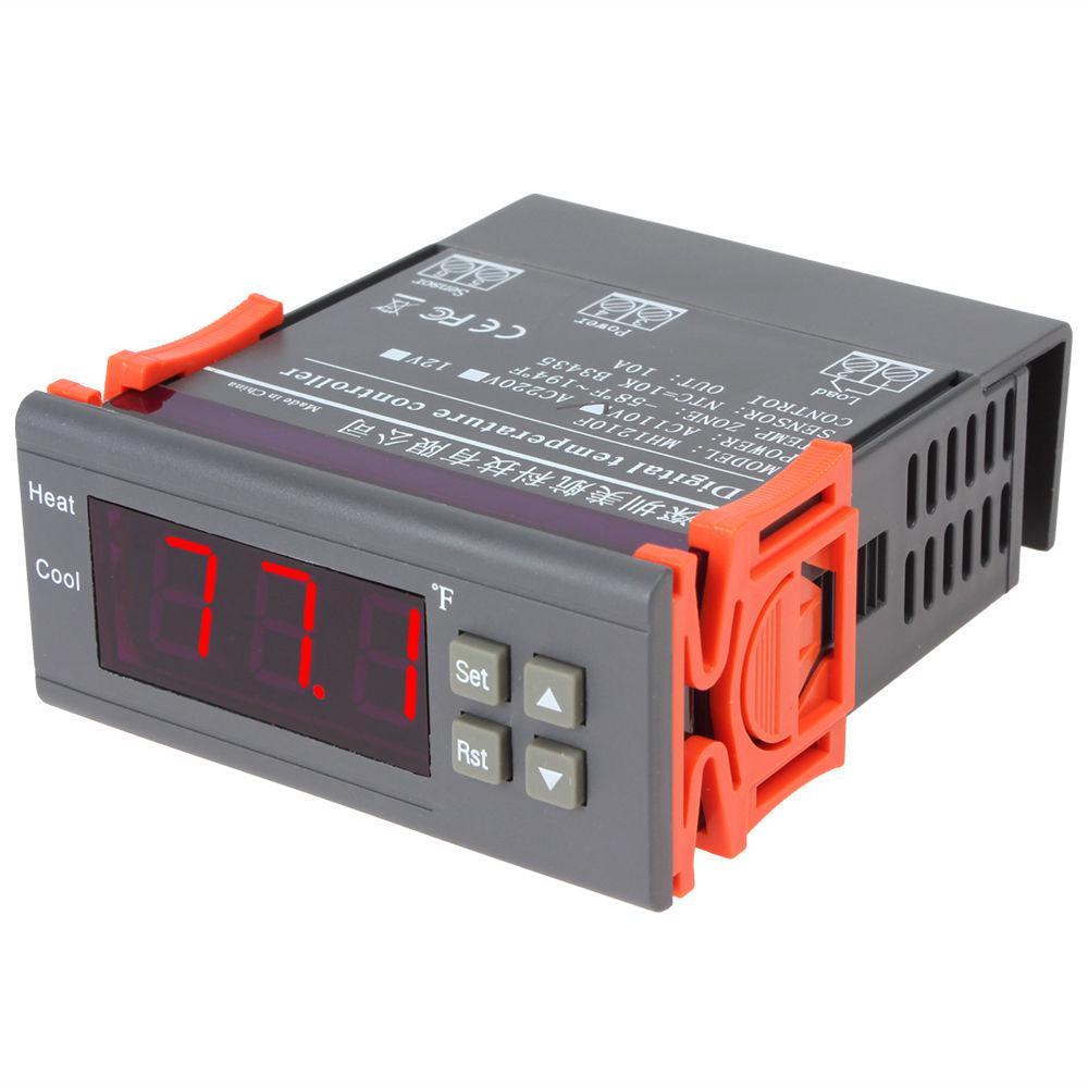 Универсальный цифровой контроллер температуры STC-2000 220V -55~120℃