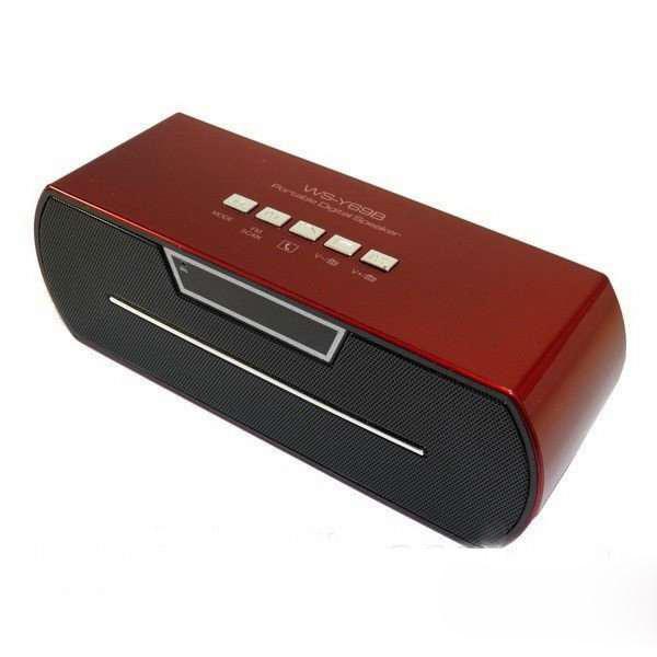 Портативная bluetooth колонка MP3 плеер WS-Y69 Red