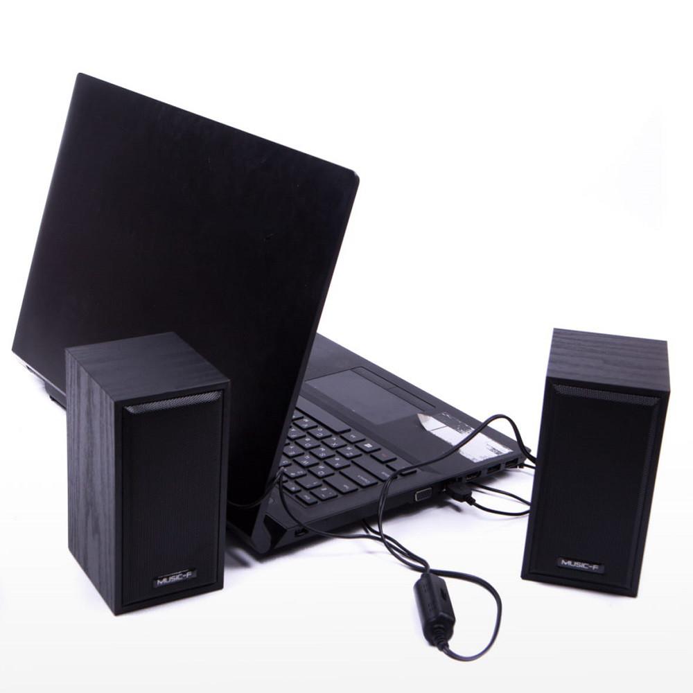 USB колонки для ПК компьютерные колонки D09 Black