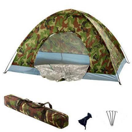 Двухместная палатка туристическая Хаки 2*1.5м J01230, фото 2