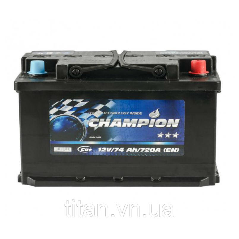 Champion Euro Black 74 Ah/12V (правый +)