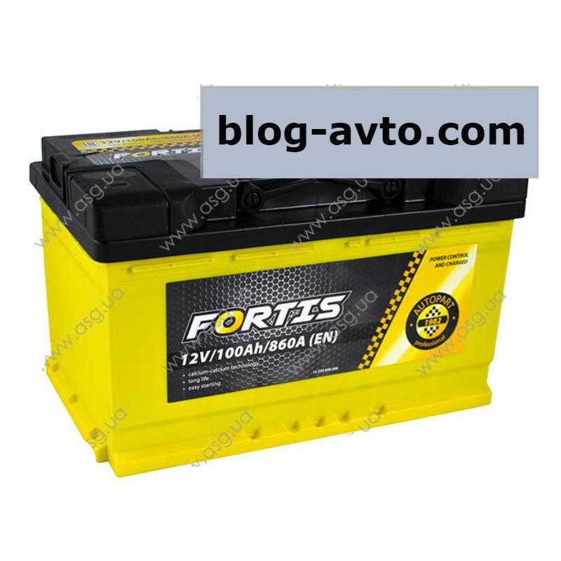 FORTIS 100 Ah/12V   (правый +) Euro_L4 короткий