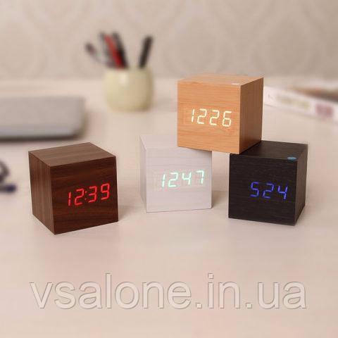 Часы-будильник Куб с подсветкой