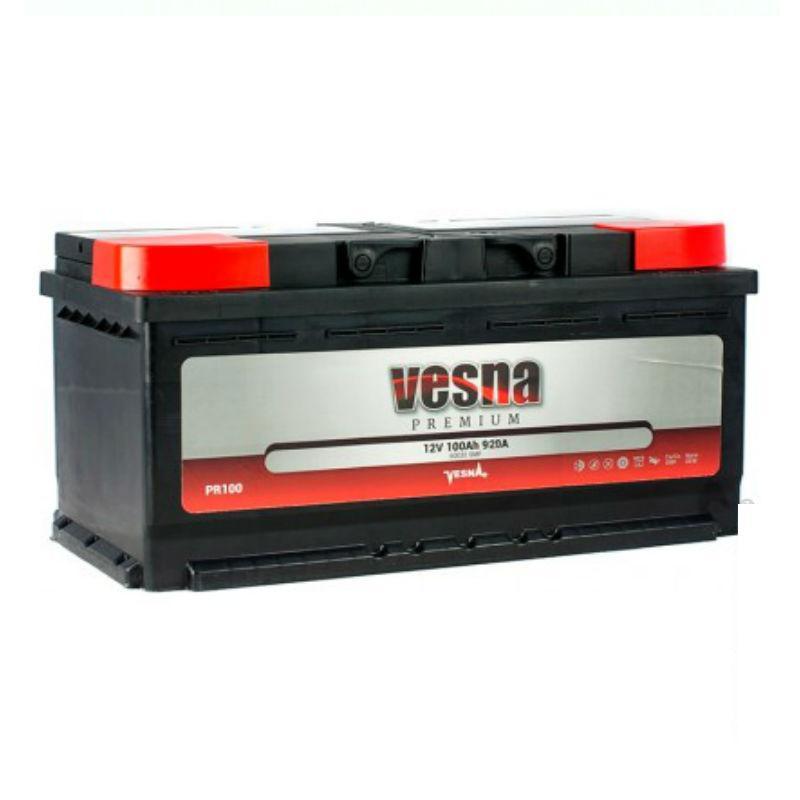 Vesna Premium Euro 100 Ah/12V (правый +)