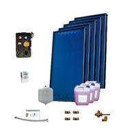 Пакет солнечных коллекторов ENSOL для приготовления горячей воды на 6-8 человек с 5 панелей без бака
