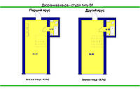 Двухъярусные студии 55-65 м2 в ещё не сданных домах