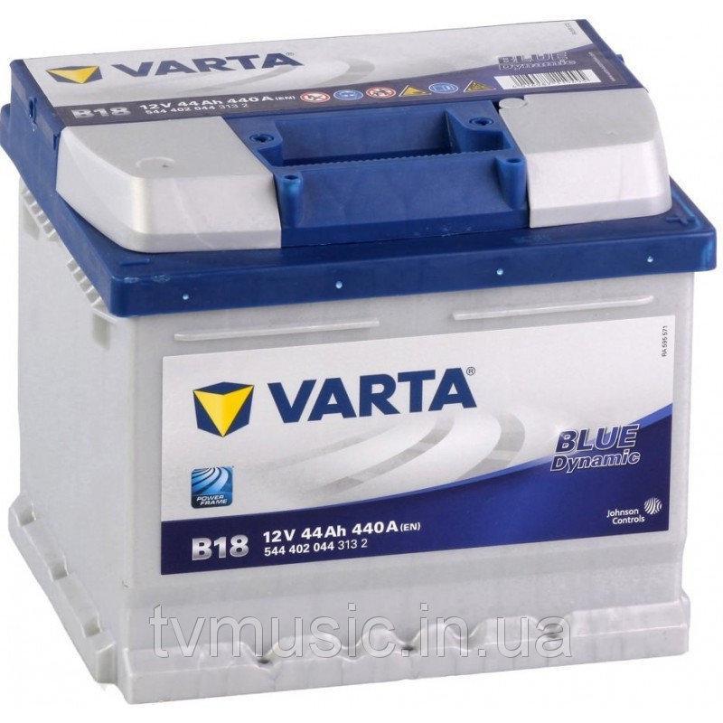 VARTA 44Ач  Blue Dynamic  B18 (правый +)