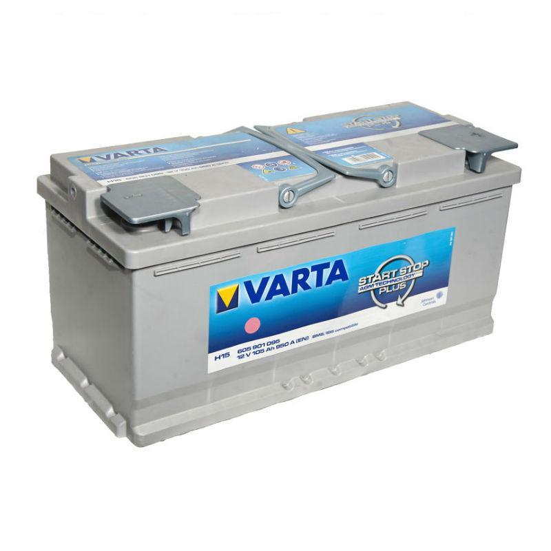 VARTA 105Ач  Start Stop plus  AGM H15 (правый +)