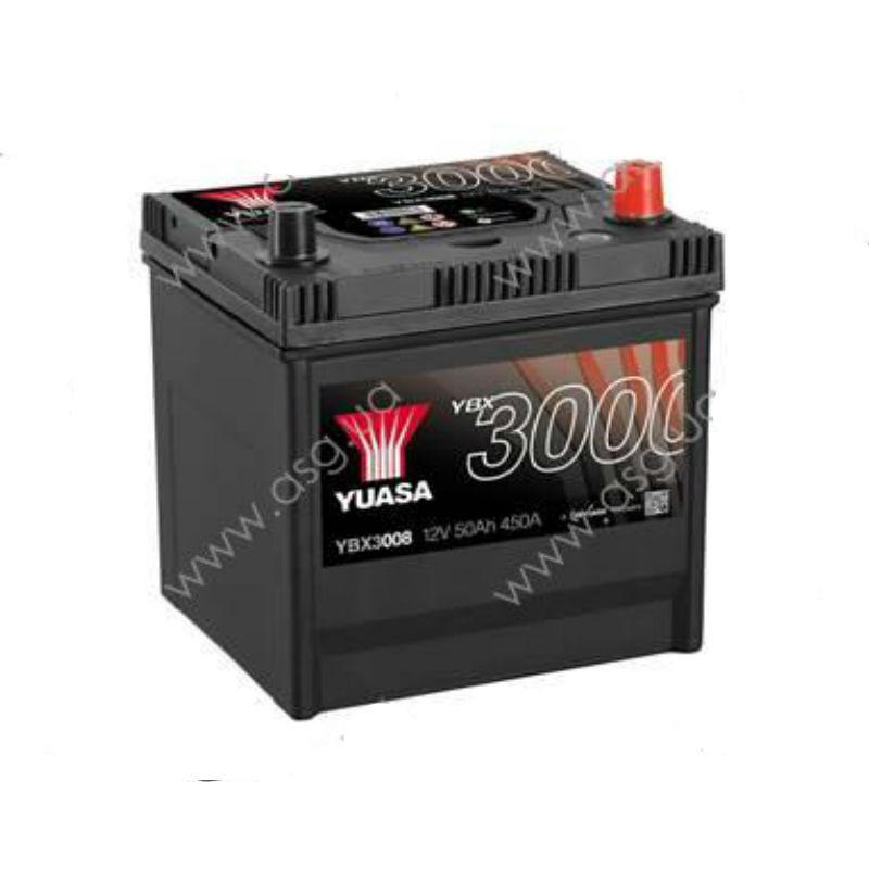 Yuasa 12V 50Ah SMF Battery Japan YBX3008 (правый +)