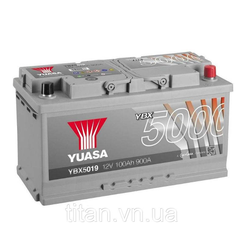 Yuasa 12V 100Ah  Silver High Performance Battery  YBX5019 (правый +)