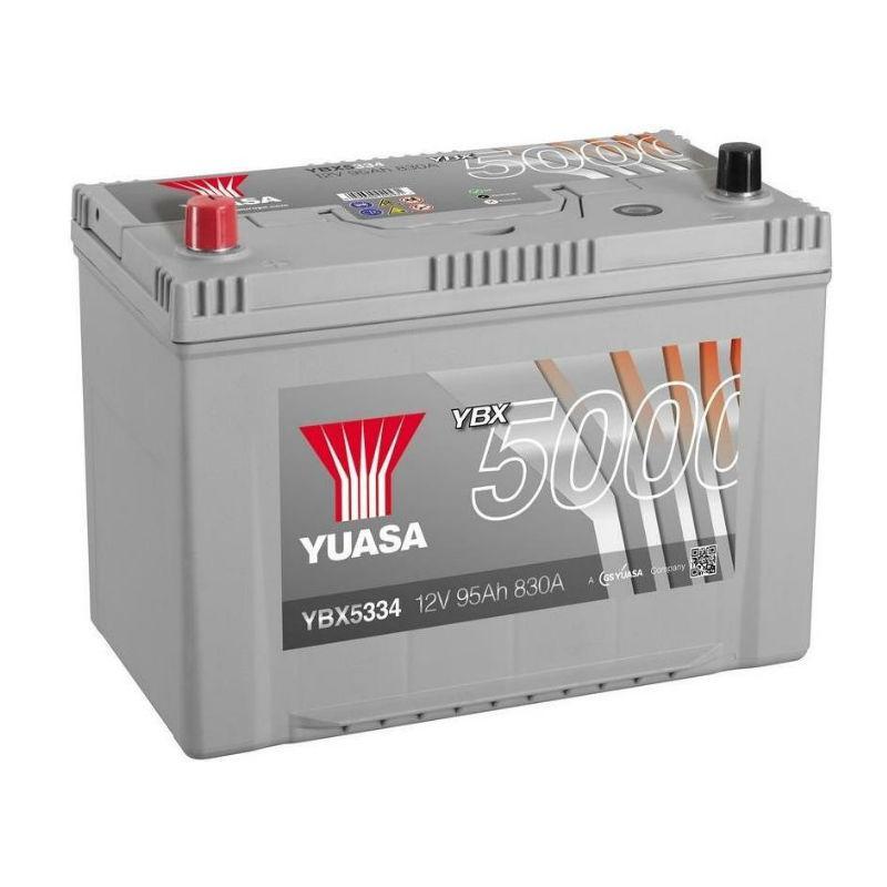 Yuasa 12V 95Ah Silver High Performance Battery Japan YBX5334 (левый +)