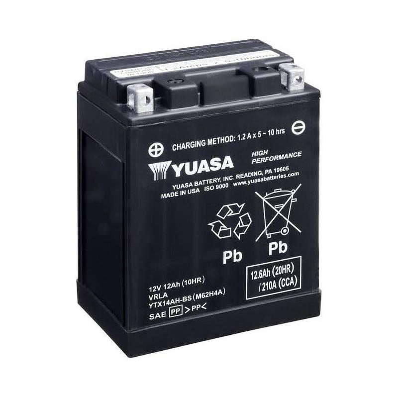 МОТО Yuasa 12V 12,6Ah High Performance MF VRLA Battery AGM  YTX14AH-BS(сухозаряжений)