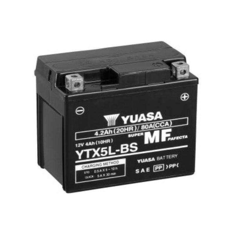 МОТО Yuasa 12V 4Ah  MF VRLA Battery AGM YTX5L-BS(сухозаряжений)