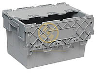 Ящик пластиковый с крышкой 600х400х365, фото 1