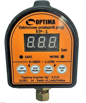 Электронное реле давления Optima EP-1 с защитой сухого хода, фото 2