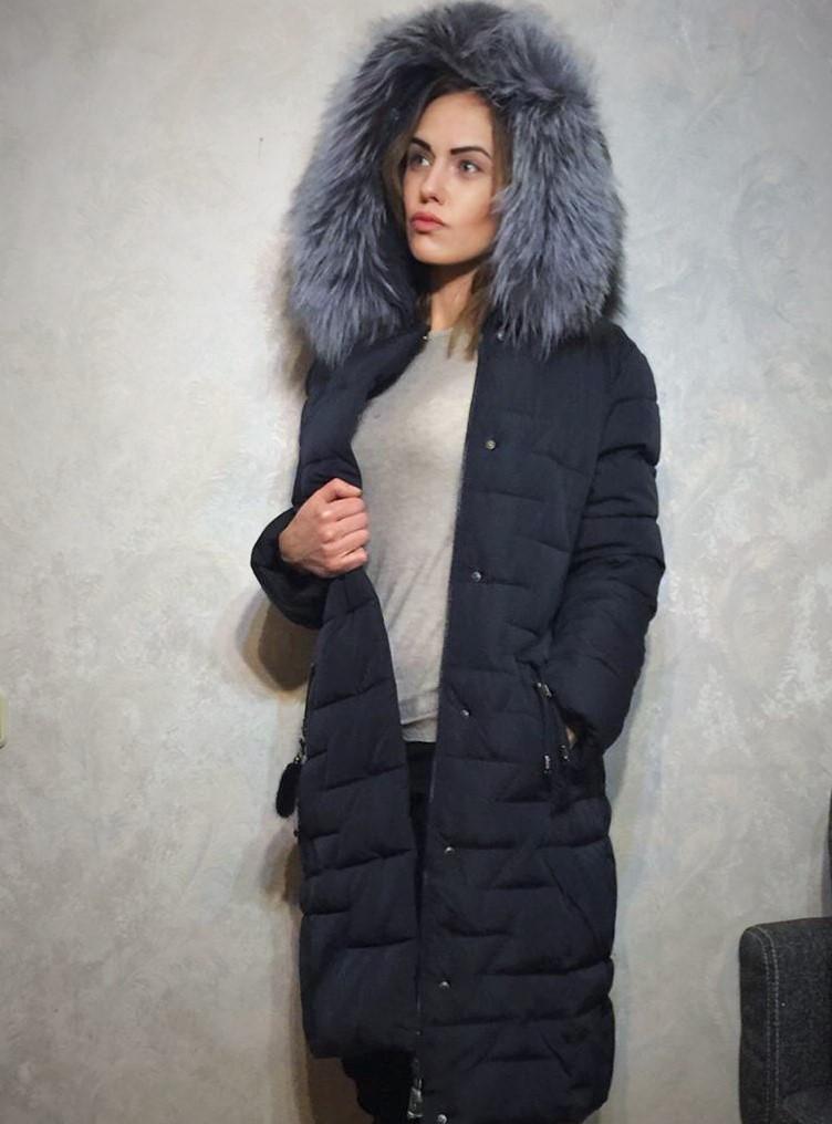 41cc7e3f4c2 Длинное пальто в пол с мехом норки на капюшоне и по всей длине ...