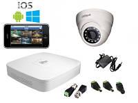 Комплект видеонаблюдения Dahua HD-CVI Помещение-1 (2Мп)