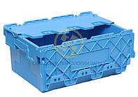 Ящик 600*400*265 сплошной с крышкой, фото 1