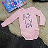 Боди котенок розовый B0093-74p