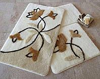 Комплект коврик в ванную комнату ALESSIA набор 3 предмета