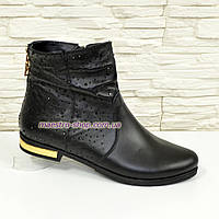 Ботинки кожаные женские зимние.