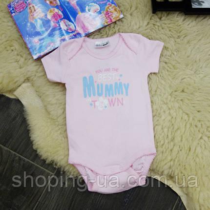 Боди Mummy розовый B0095-86p, фото 2