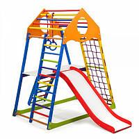 Детский спортивный уголок раннего развития ребенка  детская Спортивная площадка KindWood Color Plus 2