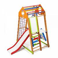Детский спортивный уголок раннего развития ребенка  детская Спортивная площадка BambinoWood Plus 3