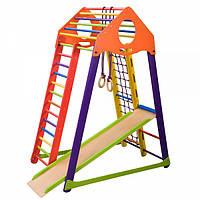 Детский спортивный уголок раннего развития ребенка  детская Спортивная площадка BambinoWood Color