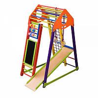Детский спортивный уголок раннего развития ребенка  детская Спортивная площадка BambinoWood Color Plus