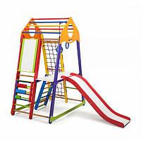 Детский спортивный уголок раннего развития ребенка  детская Спортивная площадка BambinoWood Color Plus 3