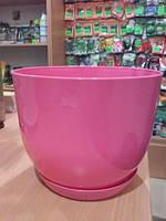 Горщик класик для рослин Рожевий 13 см
